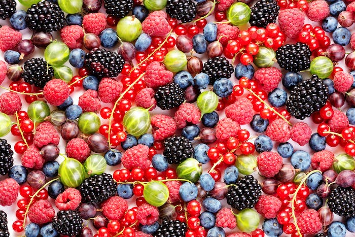 pile of fresh various berry fruits