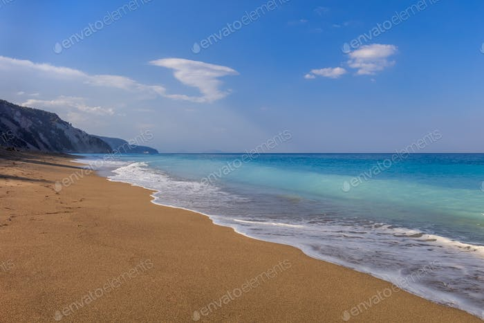 Gialos beach. Lefkada, Greece