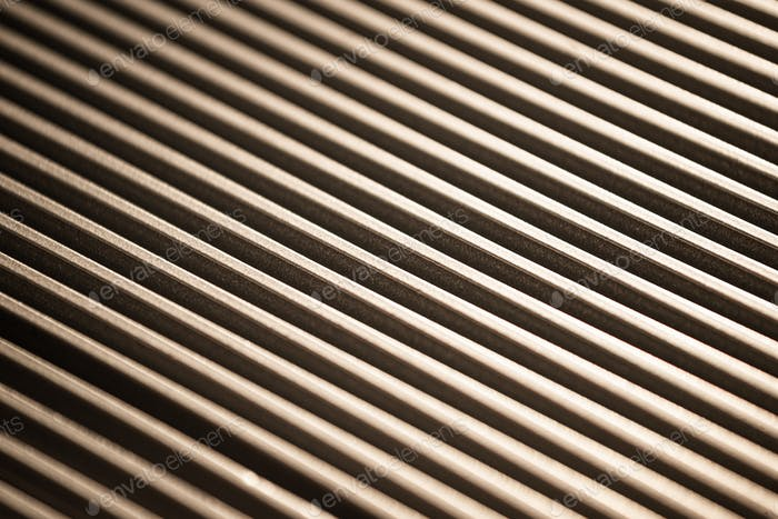 Close-up of a corrugated metal surface