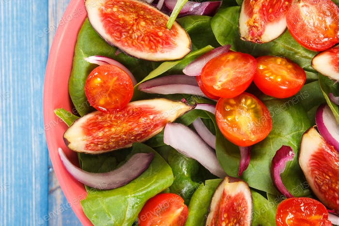 Thumbnail for Fresh prepared fruit and vegetable salad, healthy lifestyle and nutrition concept