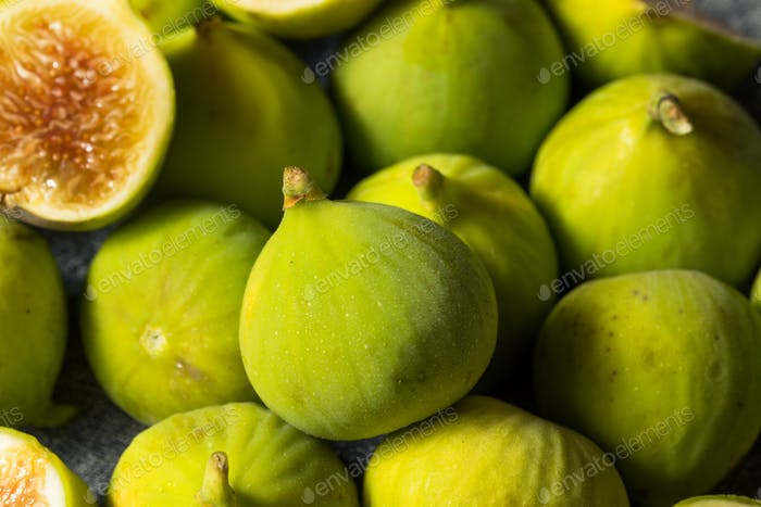 Raw Green Organic Figs