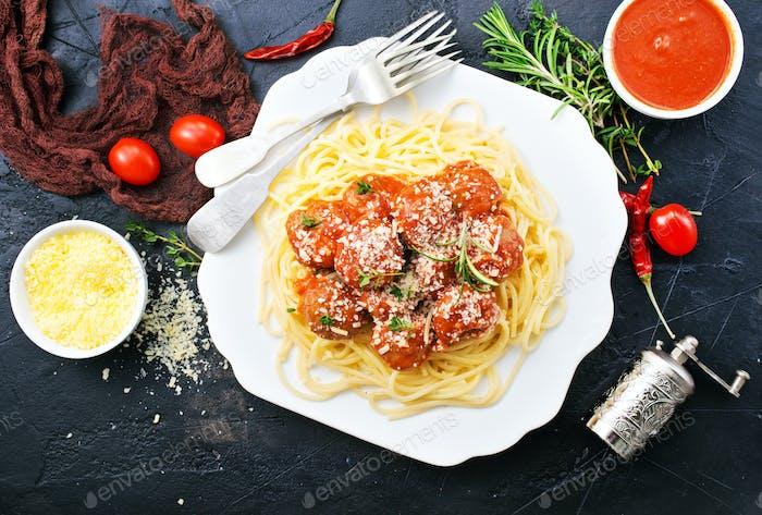 SaveDownload Previewspaghetti and meat balls