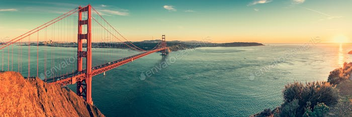 Golden Gate panorama photo by mblach on Envato Elements