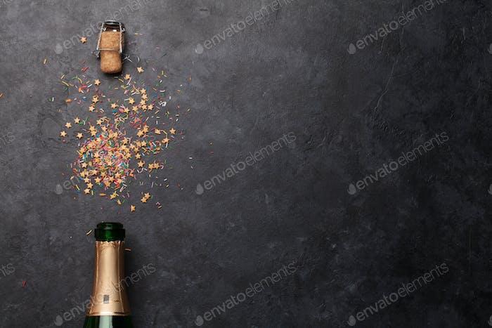 Champagner Flasche Urlaub Vorlage