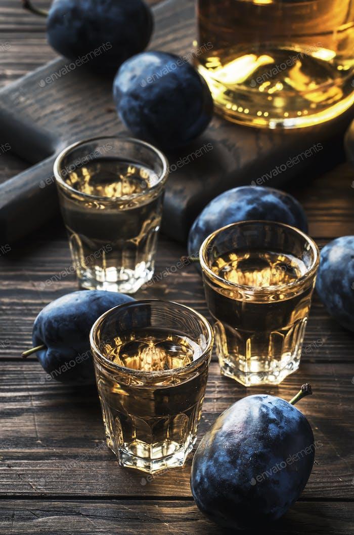 Slivovica - plum brandy or plum vodka
