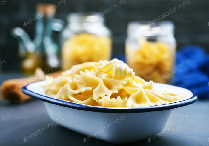 Pasta sprinkled with cheese