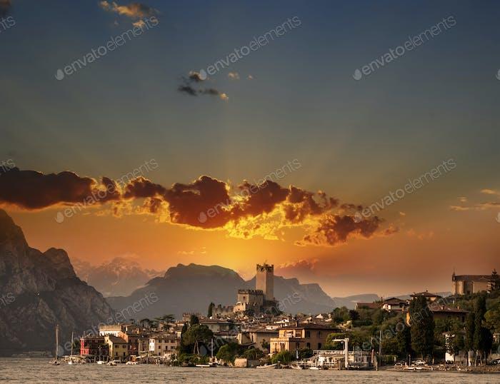Malcesine sunset, Italy