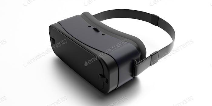 Virtual reality helmet isolated on white background. 3d illustration