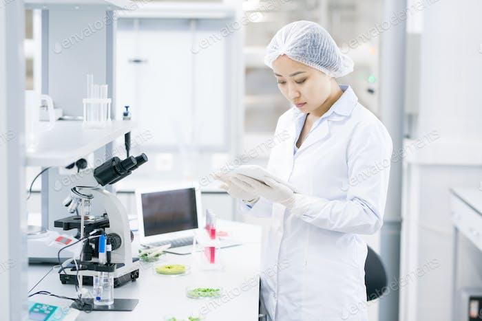 Asian Female Scientist in Laboratory