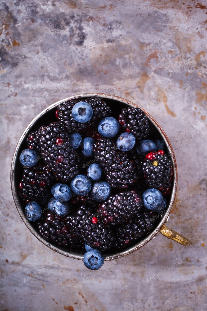 Berry Fresh.Blackberries, Blueberry.Food or Healthy diet concept.