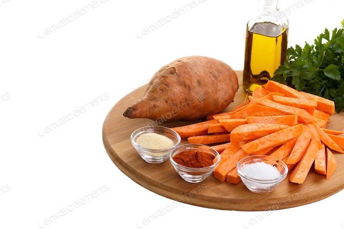 Rohe Süßkartoffeln
