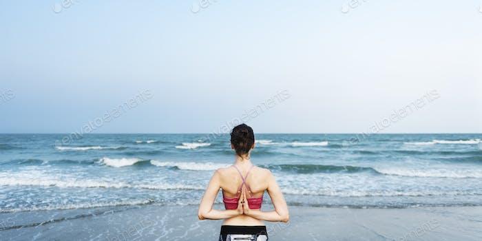 Balance Beach Energy Meditation Peace Relaxation Konzept