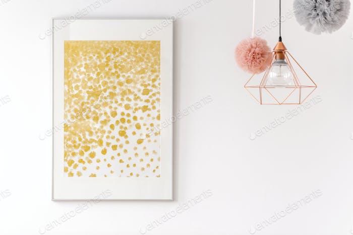 Golden glitter dots poster