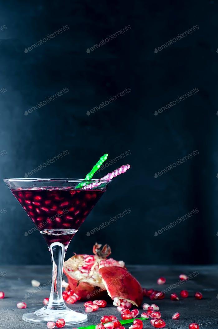Köstlicher Granatapfel-Cocktail