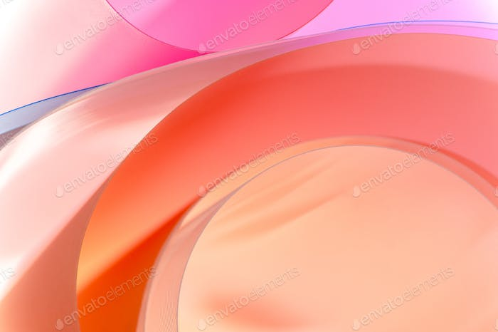 Background of multicolored semicircular elements with a gradient