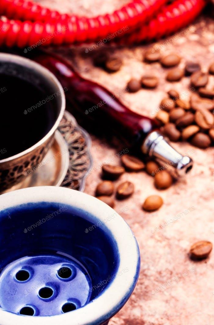 Wasserpfeife mit Aroma Kaffee