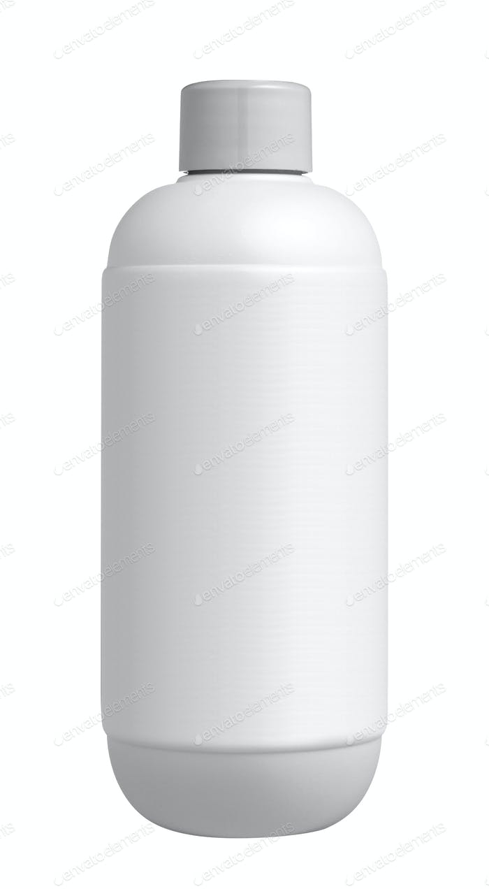 Shampoo bottle isolated on white