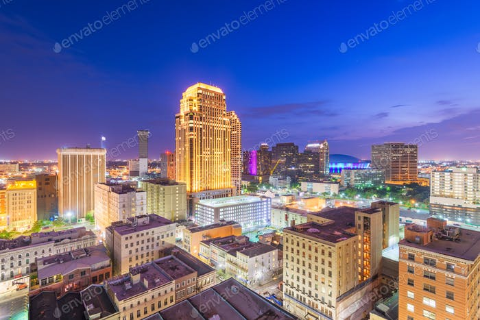 New Orleans, Louisiana, USA downtown CBD skyline