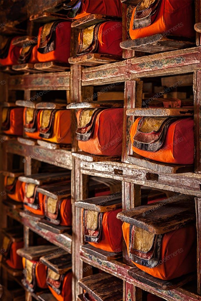 Handschriften folios im tibetisch-buddhistischen Kloster
