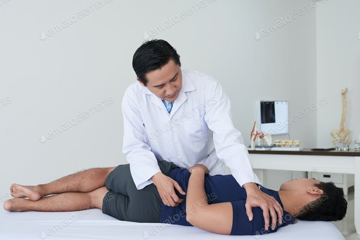 Patient at chiropractor