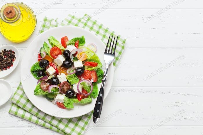Greek salad plate