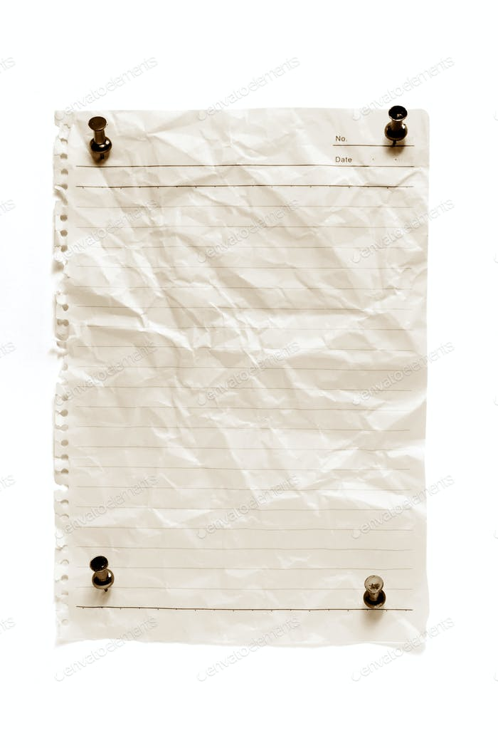 Blank Paper with Pushpins