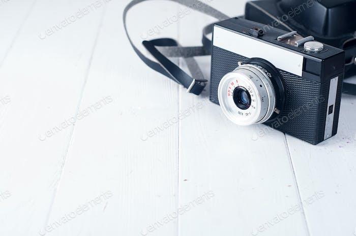 Retro camera isolated