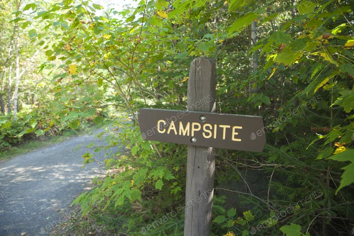 Campsite Sign at Northern Minnesota Campground