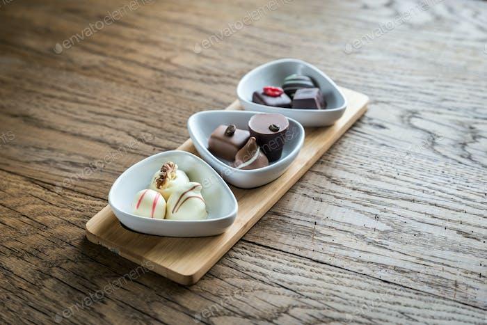 Swiss chocolate candies