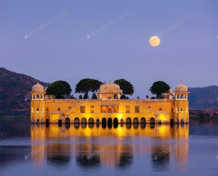 Jal Mahal (Wasserpalast). Jaipur, Rajasthan, Indien