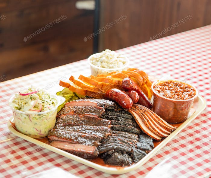 Tray Full of Barbecue