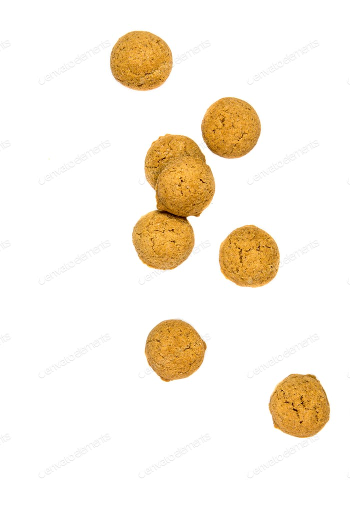Thumbnail for Number of scattered Pepernoten cookies from above