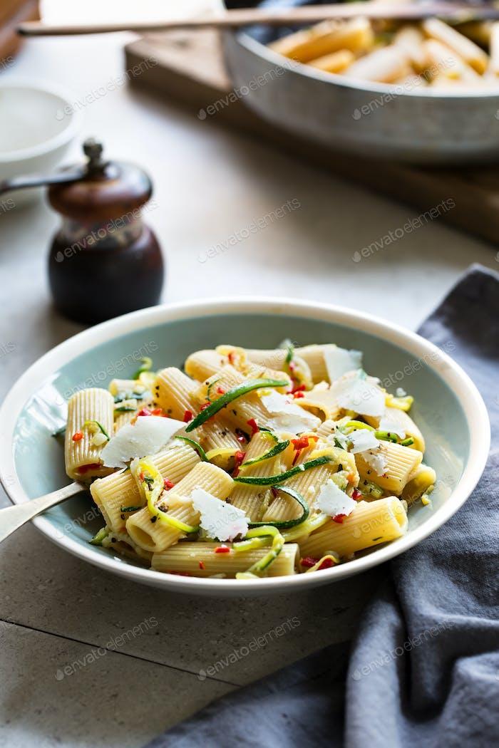 Rigatoni zucchini