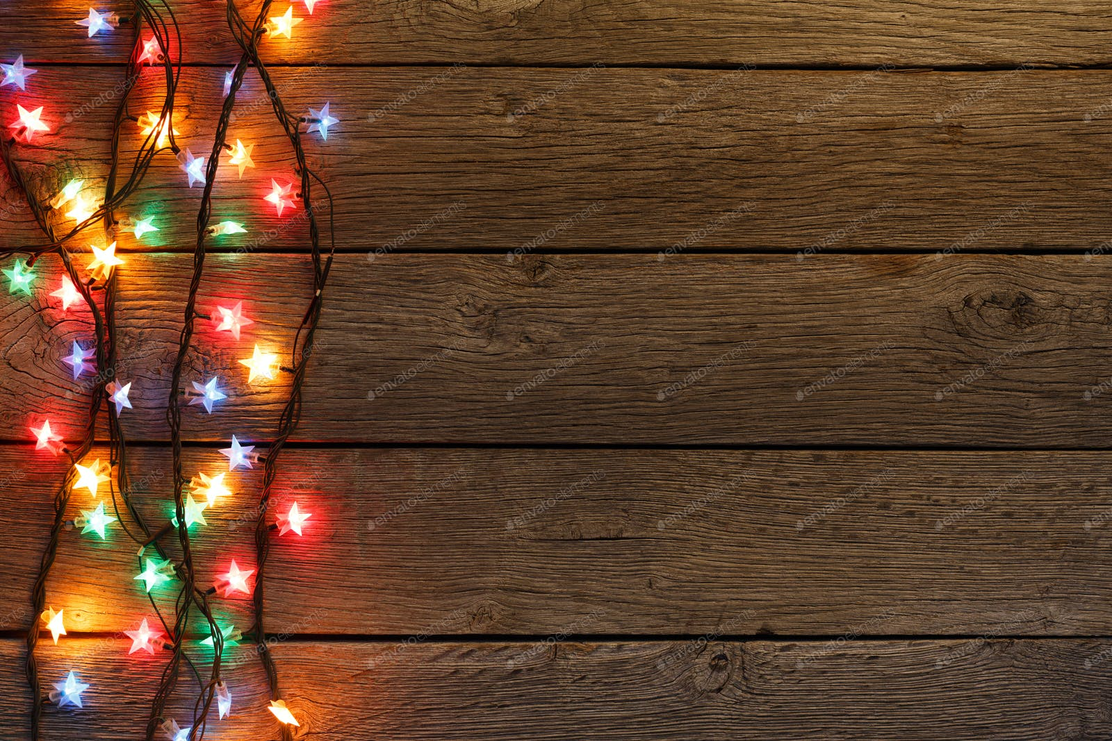 10+ Christmas Lights Background