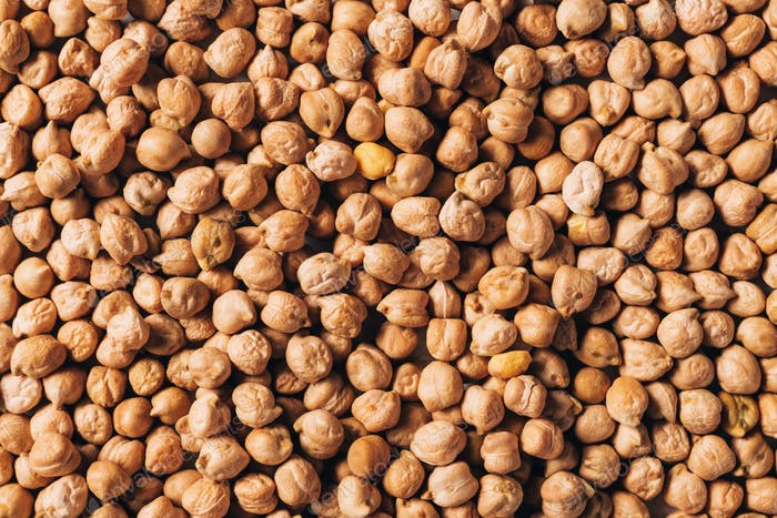Raw chickpeas as organic texture