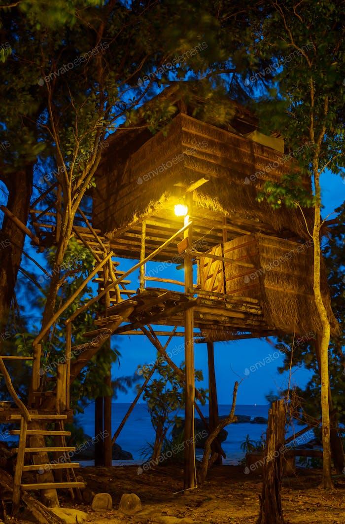 Tropische Hütte