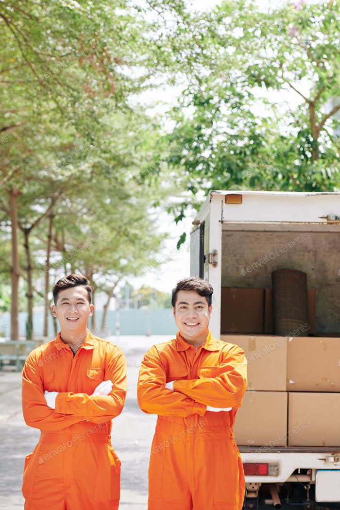 Happy Vietnamese loaders