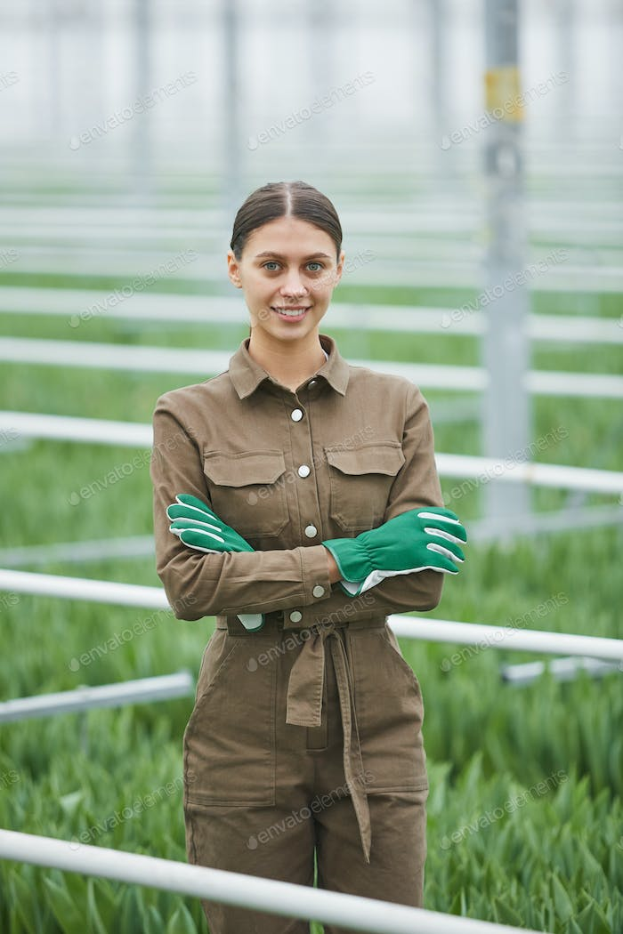 Young Female Worker in Plantation