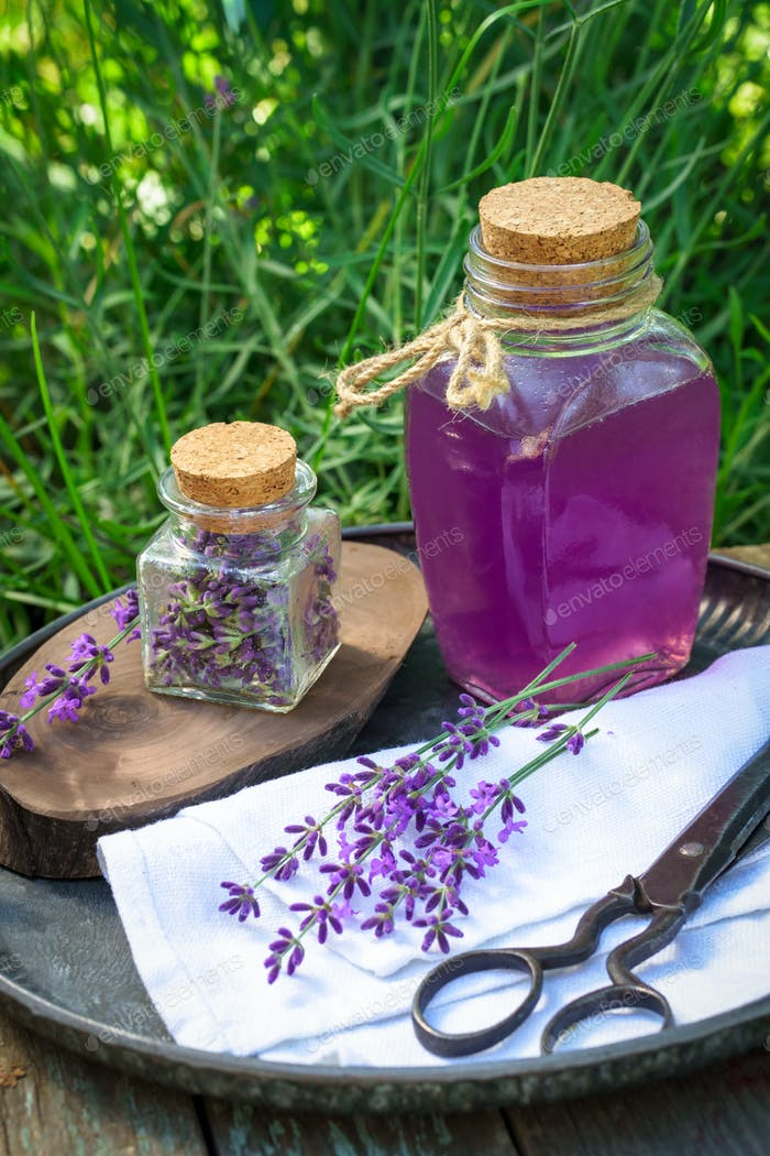 Lavender infused water