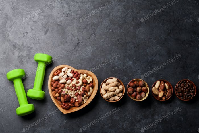 Healthy food concept. Nuts