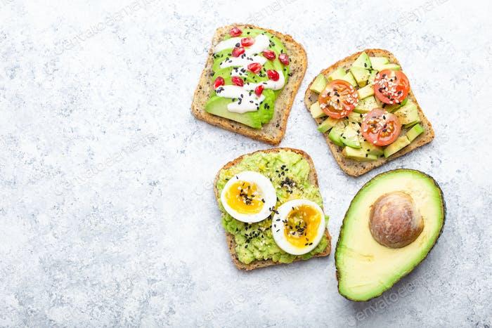 Avocado healthy  toasts