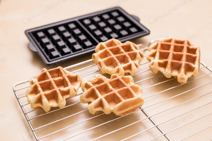 Baking waffle at home