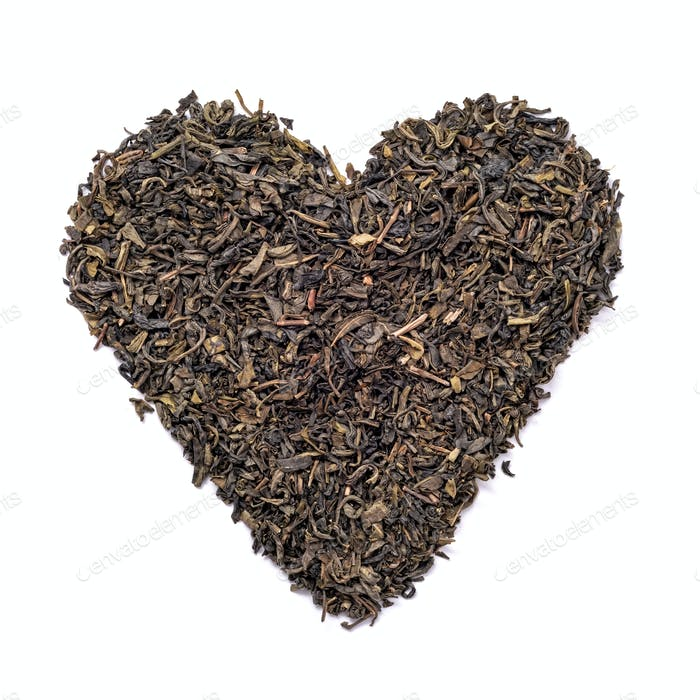 Heart shape black tea
