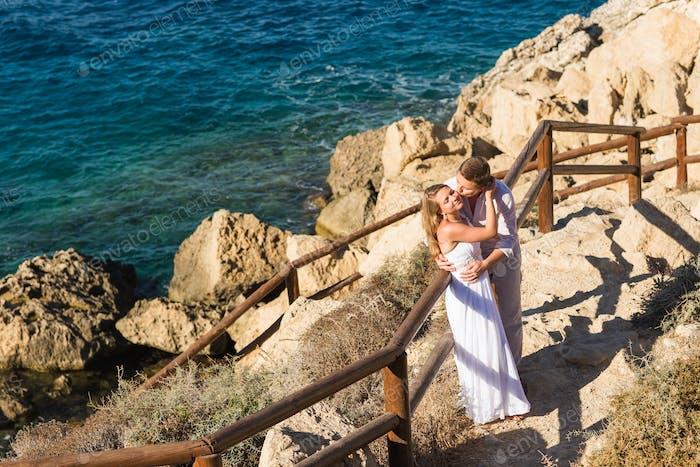 Paar Liebe Strand Romantik Zweisamkeit Konzept