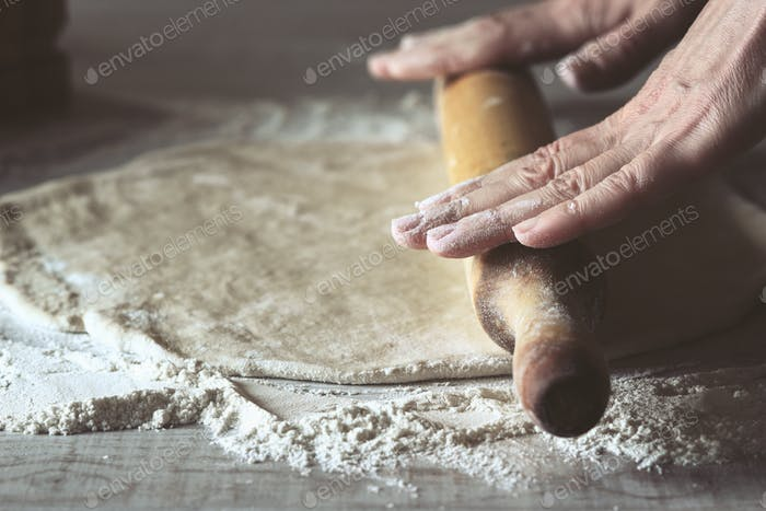 Rolling dough for calzone