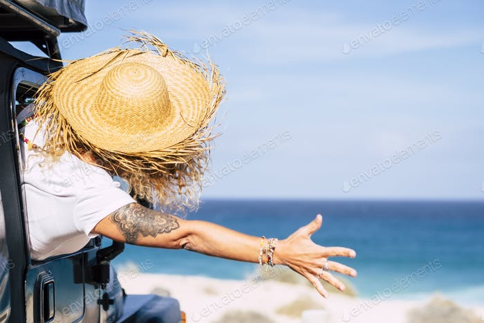 Happiness and joy for travel lifestyle people