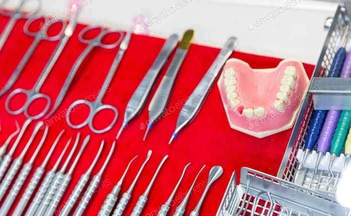 Medicine equipment, dentures, dental tools