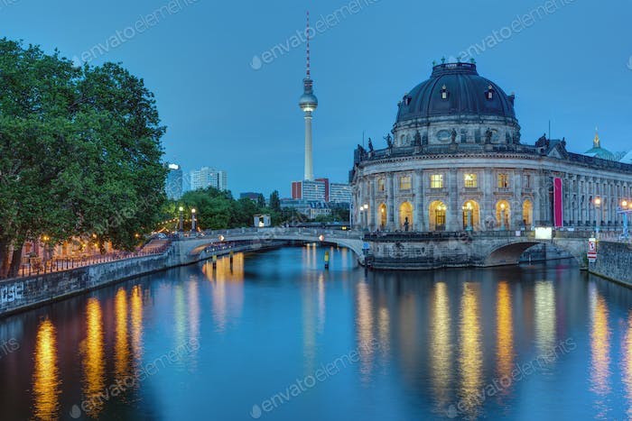 The Bode Museum and the Television Tower in Berlin
