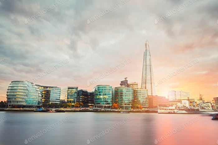 London at the sunset