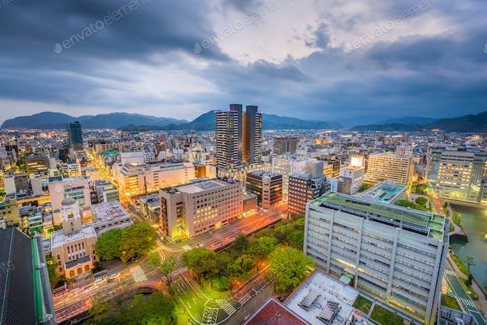 Shizuoka City, Japan Skyline